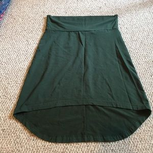 KAVU forest green Stella skirt